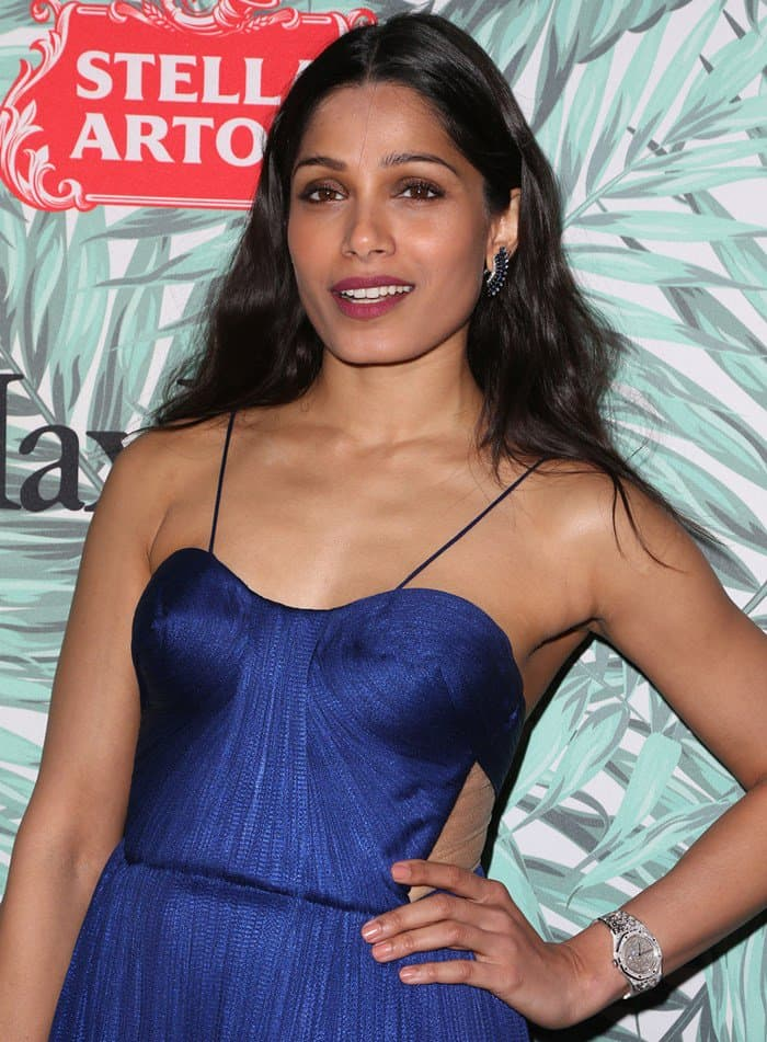 Freida Pinto at the 10th Annual Women In Film Pre-Oscar Cocktail Party Presented By Max Mara and BMW