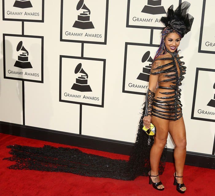 Joy Villa at the 2016 Grammys held at the Staples Center, Los Angeles on February 15, 2016