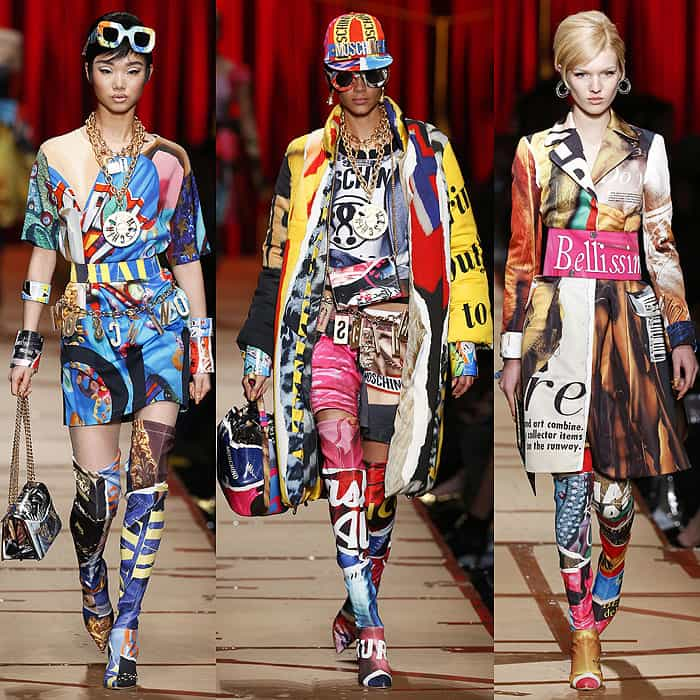 Moschino fall 2017 clothing made to appear as if they were made out of pages torn out of fashion magazines