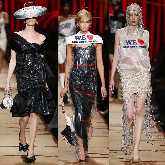 Moschino Sent Literal Garbage Down The Fall 2017 Runway