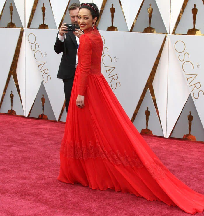 Ethiopian-Irish actress Ruth Negga arrives at the 89th Annual Academy Awards held at the Dolby Theatre at the Hollywood & Highland Center in Los Angeles on February 26, 2017