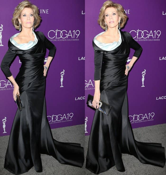 Jane Fonda wearing Atelier Versace at the 19th Costume Designers Guild Awards