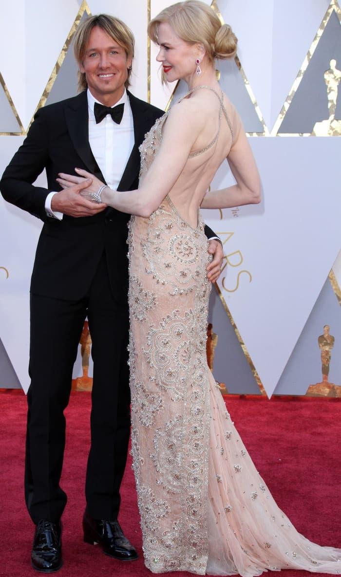 Nicole Kidman with husband Keith Urban at the 2017 Oscars