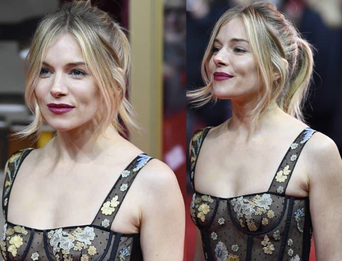 Sienna Miller wearing a racy Christian Dior dress