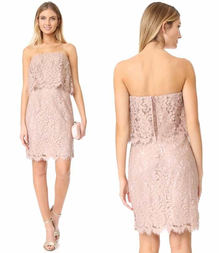 BB Dakota Sakura Strapless Lace Dress