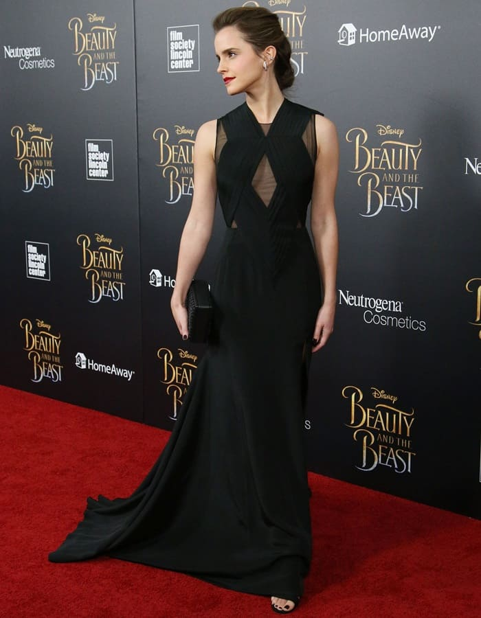 Emma Watson at the Beauty and the Beast NYC Premiere held at Alice Tully Hall in Lincoln Center on March 14, 2017