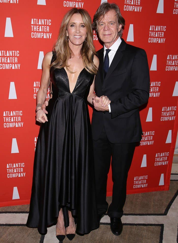Felicity Huffman with husband William H. Macy at the Atlantic Theater Company Directors' Choice Gala