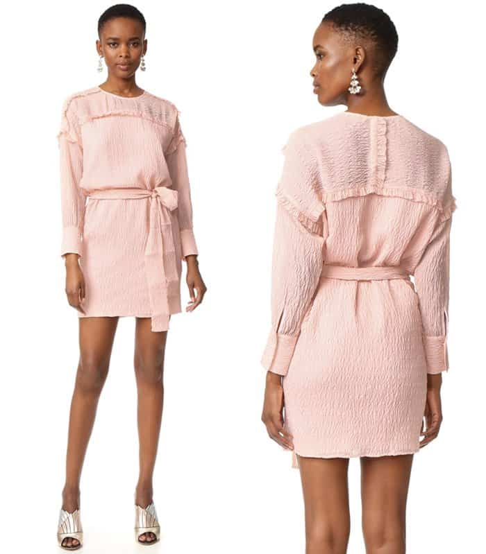 Intropia Long Sleeved Belted Dress