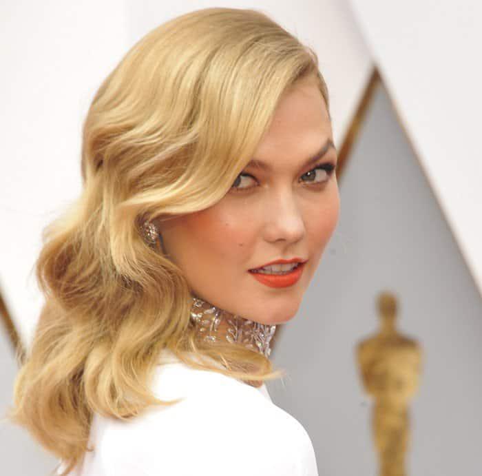 Karlie Kloss White Hot in Stella McCartney Gown at Oscars