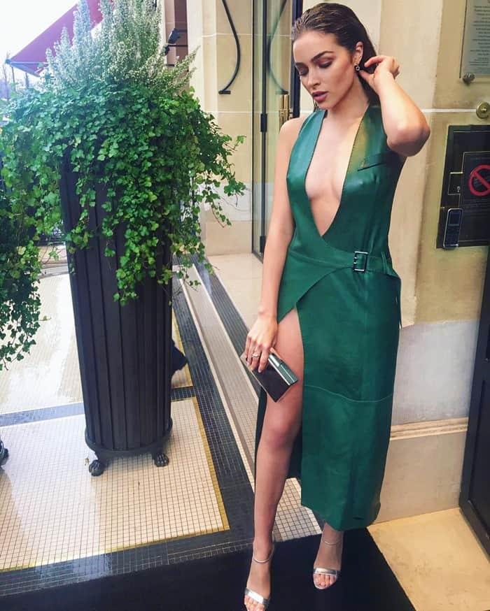 Olivia Culpo Mugler Fashion Show