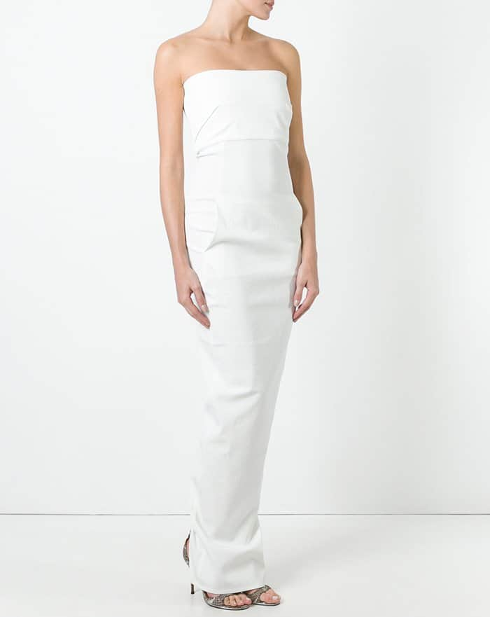Rick Owens Strapless Gown