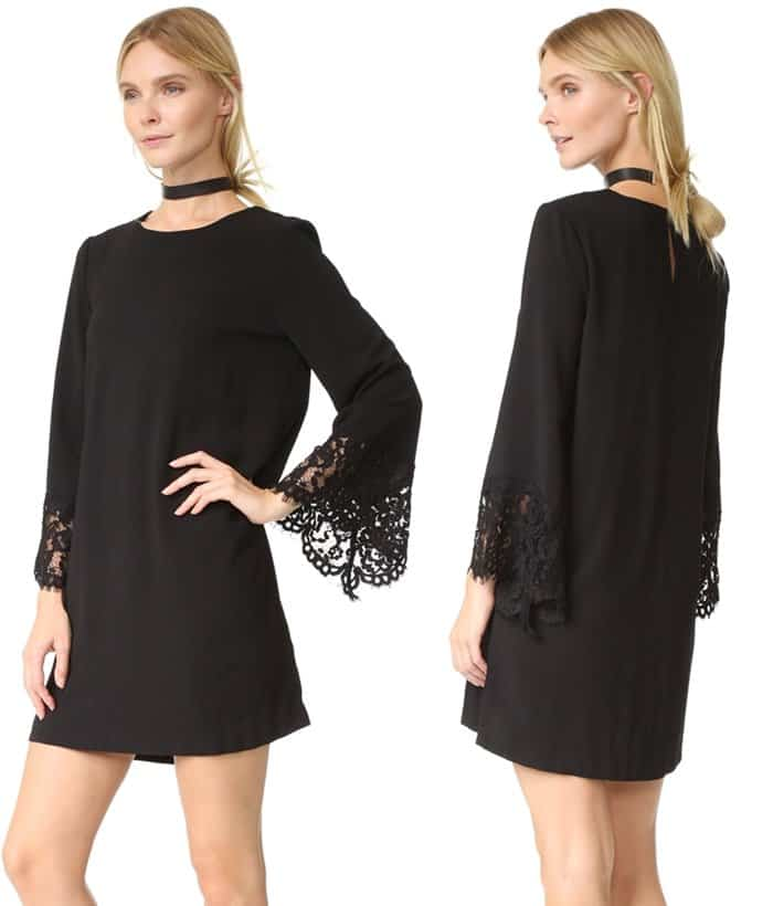 Long sleeves with lace cuffs that hide your arms