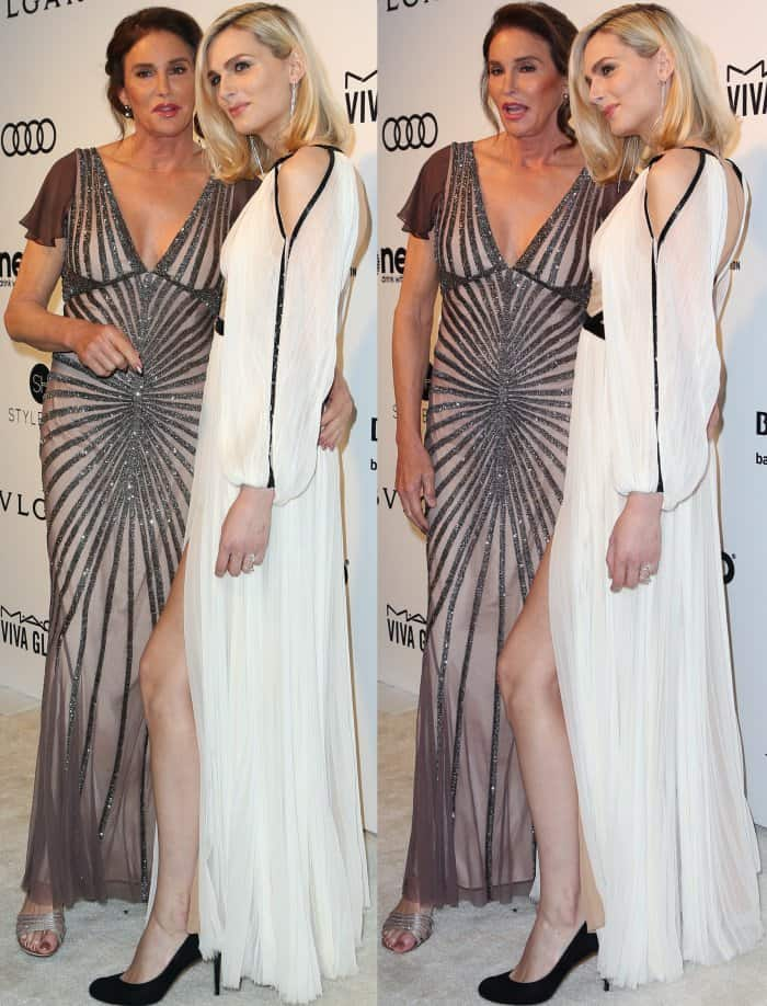 Caitlyn Jenner andAndreja Pejić at the 25th Annual Elton John AIDS Foundation's Academy Awards Viewing Party