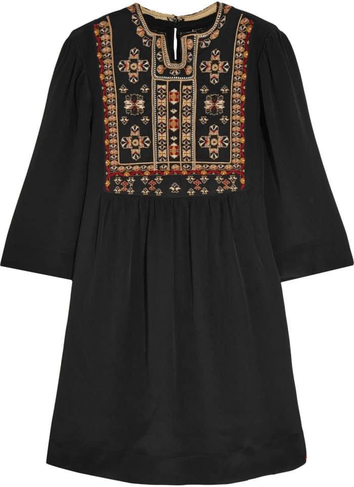 "Isabel Marant ""Ren"" Embroidered Shift Dress"
