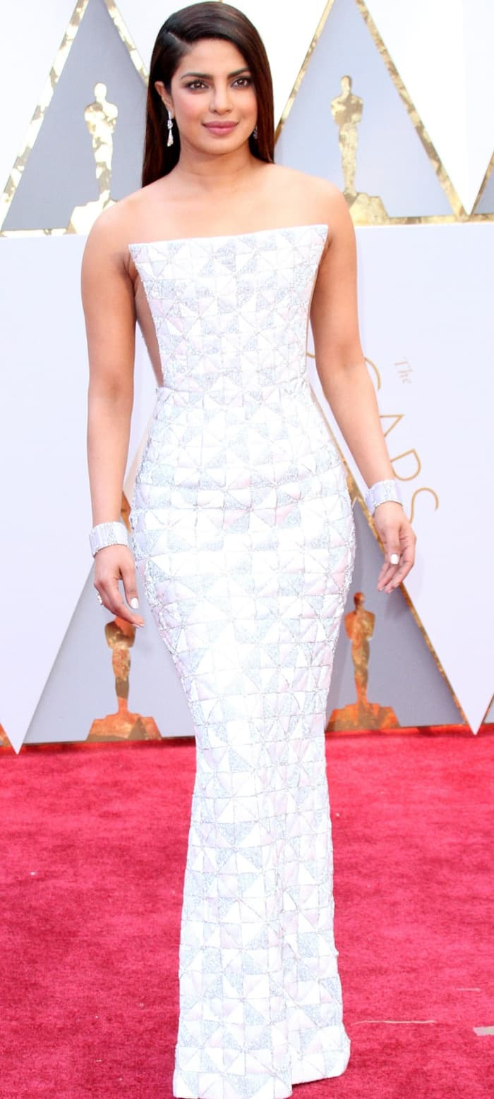 Priyanka Chopra channelled her inner math geek in a white and silver gown