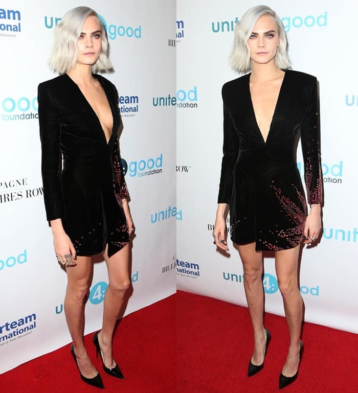 Cara Delevingne attending the 4th Annual unite4:humanity Gala in Beverly Hills.