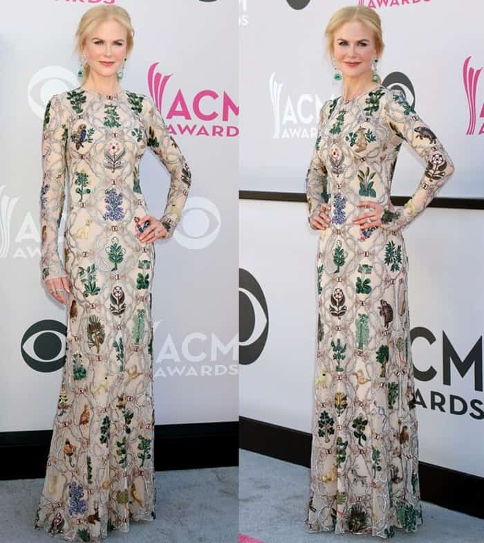 Nicole Kidman at the 52nd Academy of Country Music Awards held at the T-Mobile Arena in Las Vegas on April 2, 2017