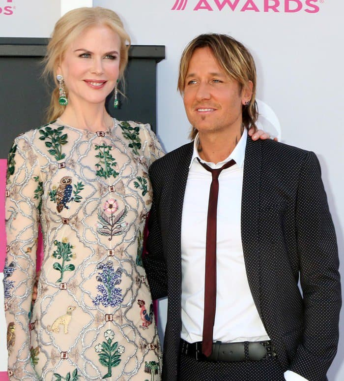 Nicole Kidman with husband Keith Urban at the 52nd Academy of Country Music Awards