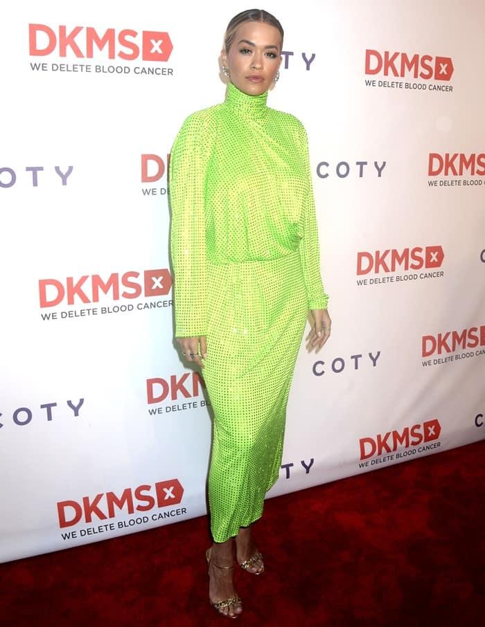 "Rita Ora at the DKMS ""BIG LOVE"" GALA Evening to Honor Claudia D'Arpizio Held at Cipriani Wall Street"