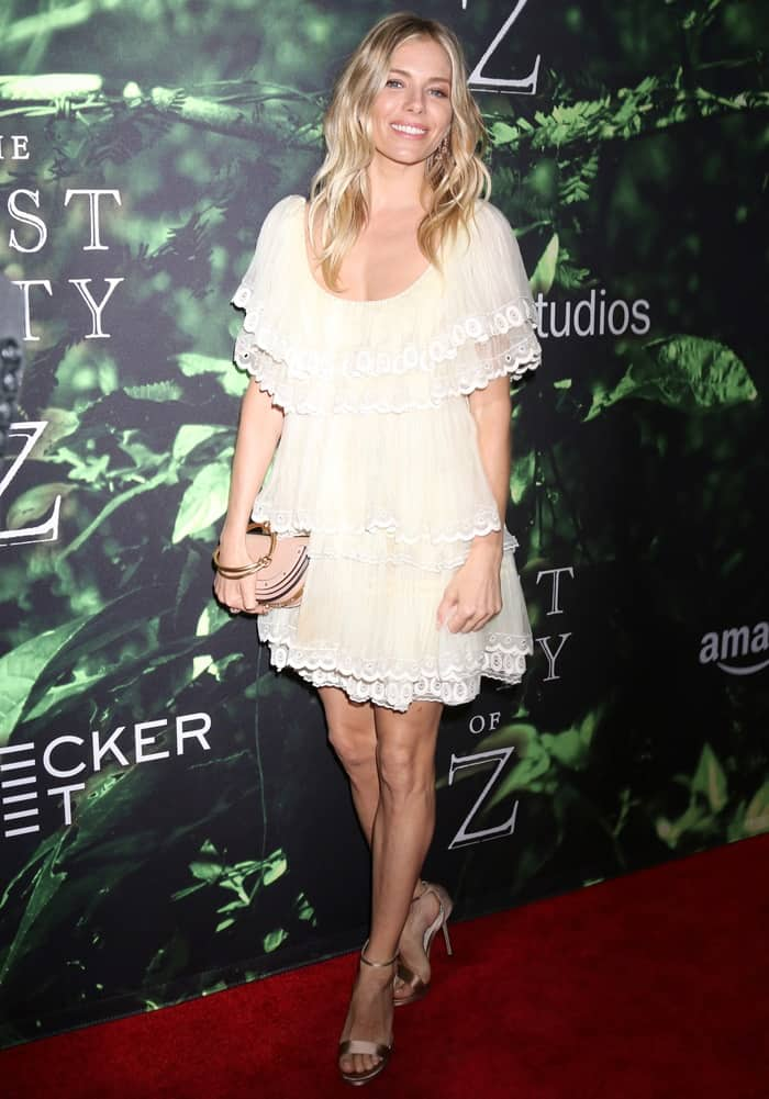 Sienna Miller at 'The Lost City of Z' Premiere at ArcLight Hollywood in Los Angeles.