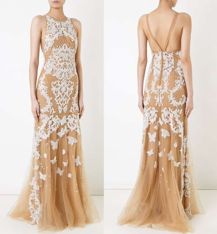 Zuhair Murad backless beaded gown