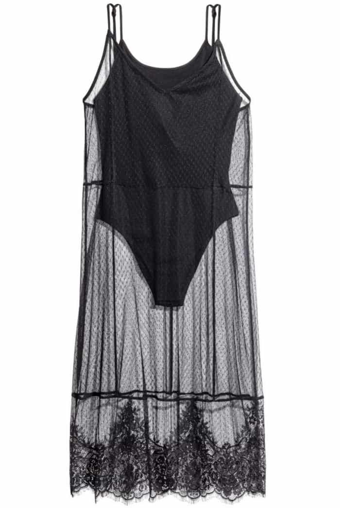 H&M Loves Coachella Mesh Dress with Bodysuit