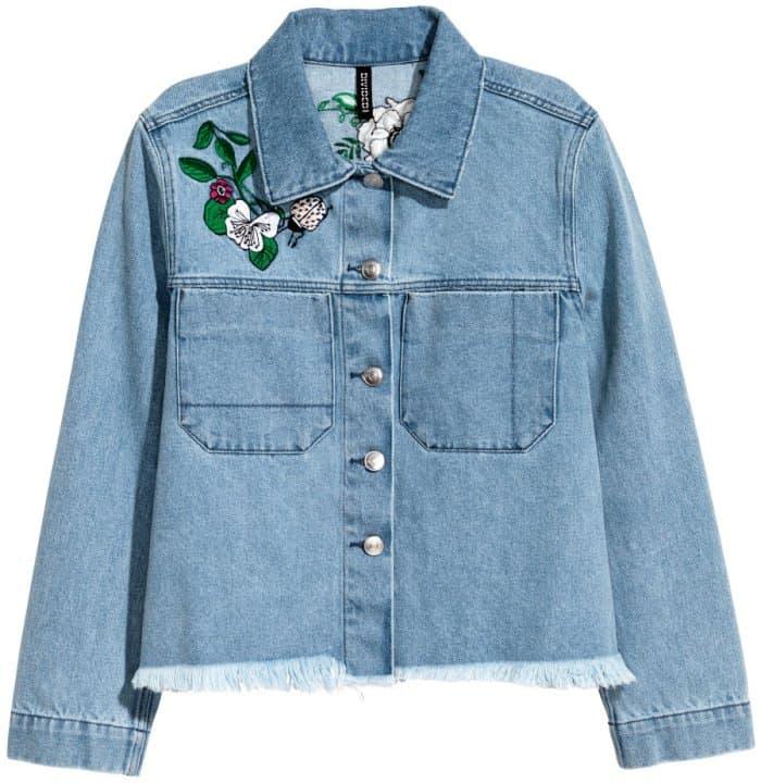 H&M Loves Coachella Embroidered Denim Jacket