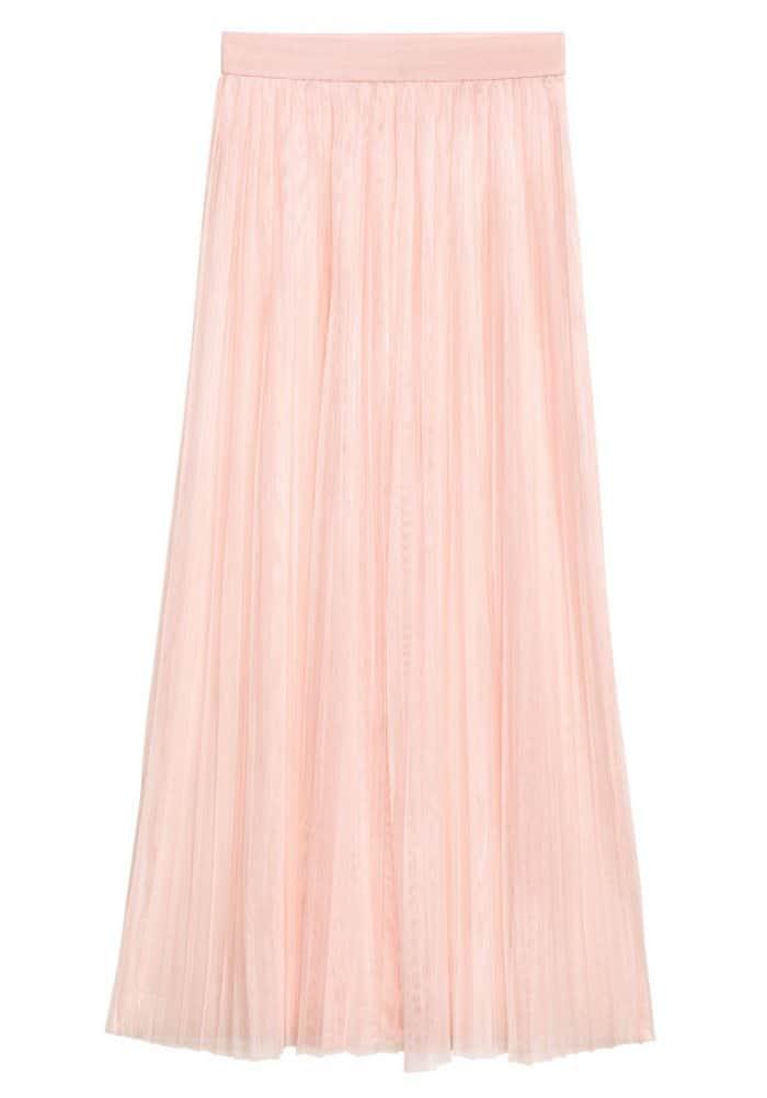 H&M Loves Coachella Pleated Mesh Skirt