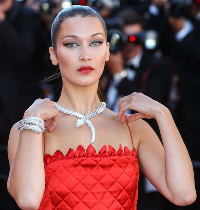 "Bella Hadid at the 70th Cannes Film Festival ""Okja"" premiere held at Palais des Festivals in Cannes, France."