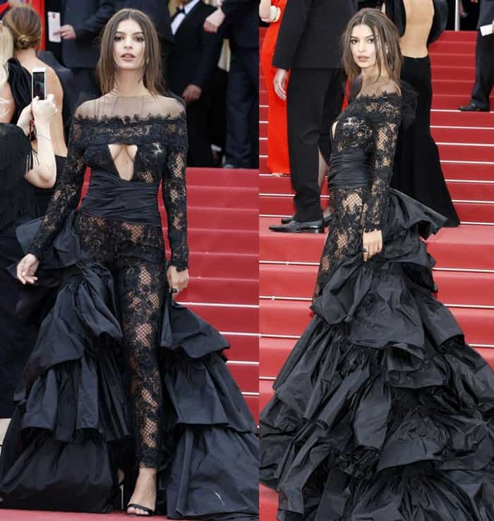 Emily Ratajkowski at the 70th annual Cannes Film Festival 'Nelyubov' premiere held at Palais des Festivals in Cannes, France.
