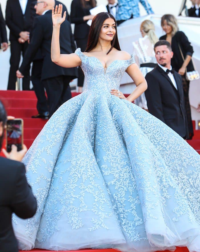 Aishwarya Rai Bachchan at the 70th annual Cannes Film Festival 'Okja' premiere held at Palais des Festivals in Cannes, France.