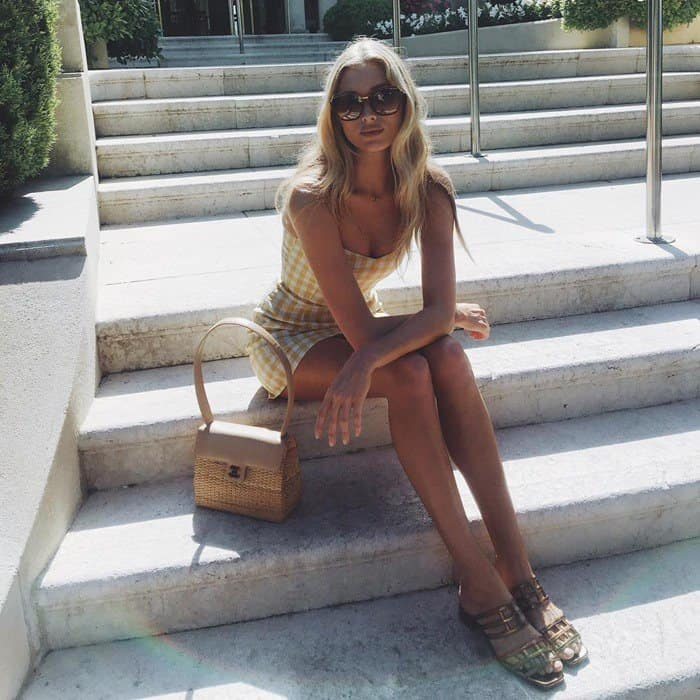 """Elsa Hosk posted a photo in the """"Audrey"""" dress"""