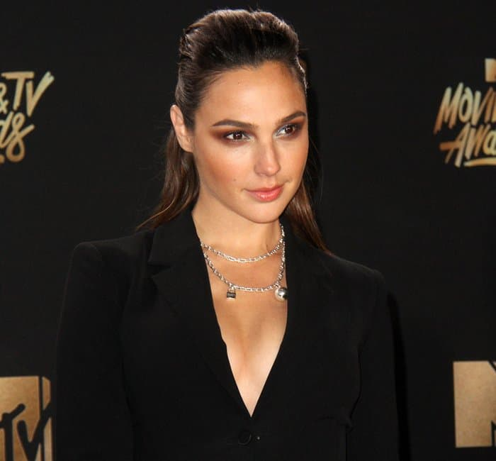 Gal Gadot at the 2017 MTV Movie And TV Awards held at the Shrine Auditorium in Los Angeles on May 7, 2017
