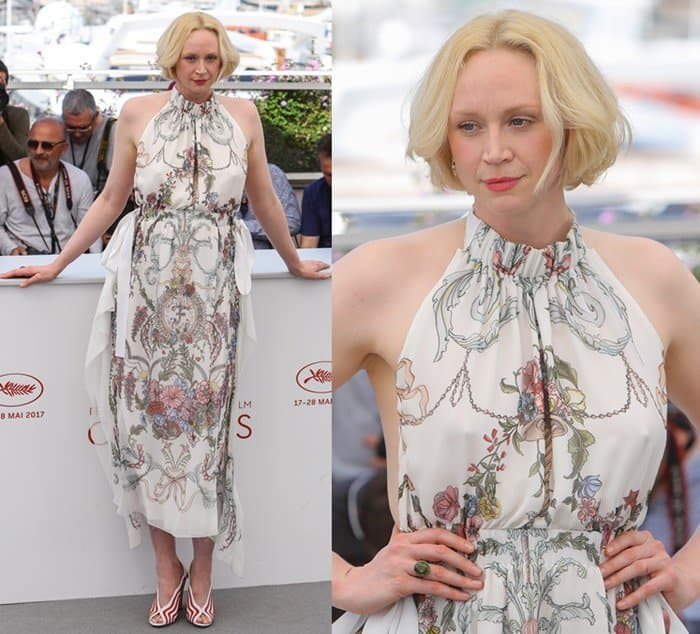 Gwendoline Christie at the 70th Cannes Film Festival's photo call for Top of the Lake: China Girl on May 23, 2017