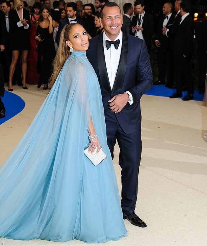 Jennifer Lopez and Alex Rodriguez making their red carpet debut