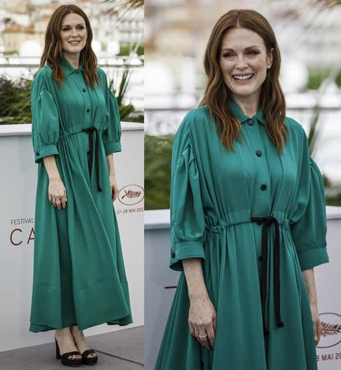 Julianne Moore at the 70th annual Cannes Film Festival photo call for Wonderstruck on May 18, 2017