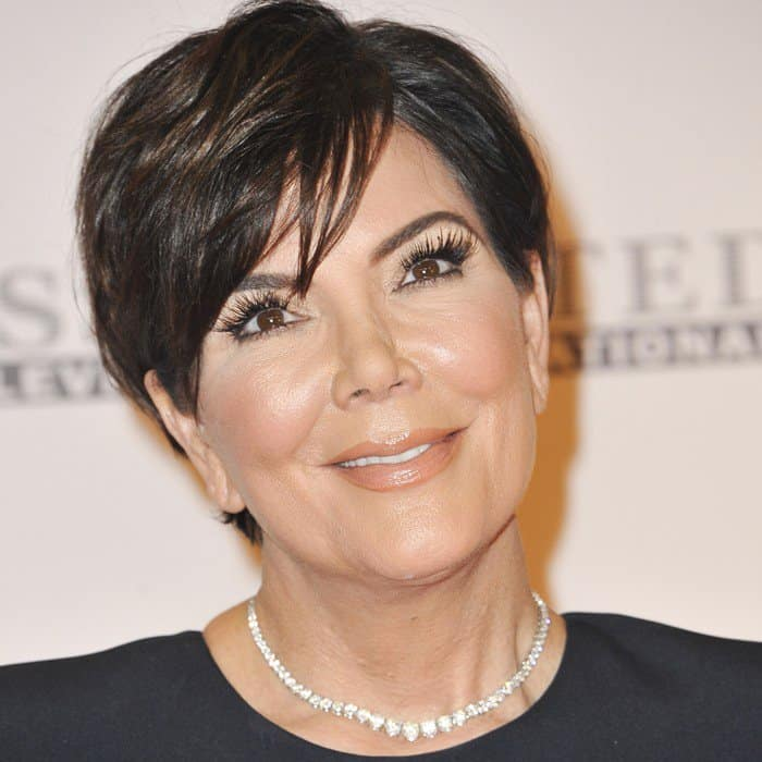 Kris Jenner's glittering diamond necklace