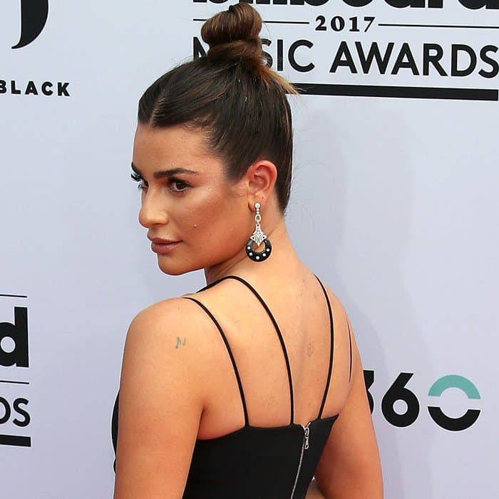 Lea Michele wearing David Koma at the 2017 Billboard Music Awards held at the T-Mobile Arena in Las Vegas on May 21, 2017