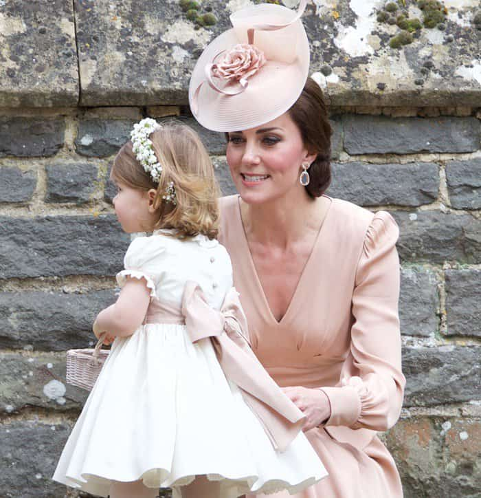 Kate Middleton and kids attend Pippa Middleton's wedding in Englefield