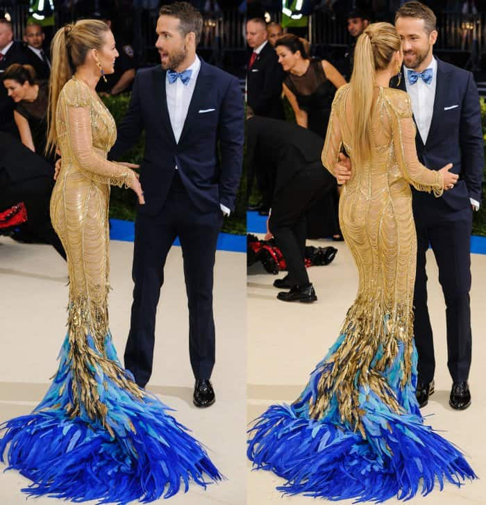 Blake Lively with husband Ryan Reynolds at the 2017 Met Gala