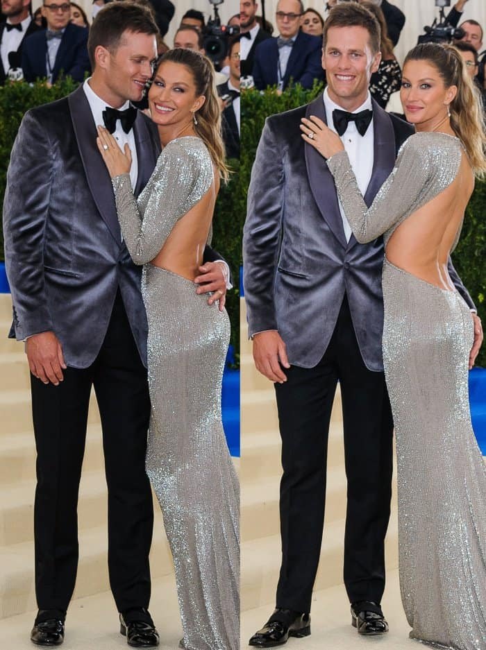 Gisele Bündchen with husband Tom Brady at the 2017 Met Gala