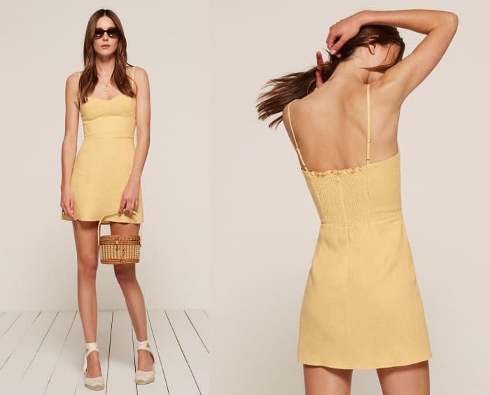 """Reformation """"Audrey"""" Dress in Buttercup"""