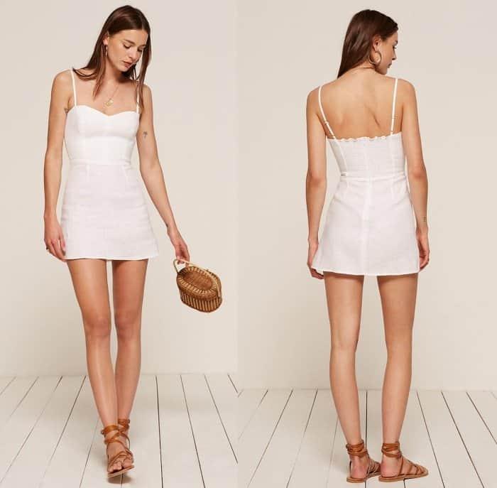 "Reformation ""Audrey"" Dress in White"