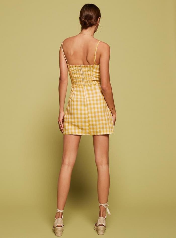 """Reformation """"Audrey"""" Dress in Zest"""