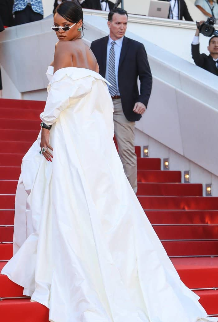 "Rihanna in Christian Dior Haute Couture at the 70th Cannes Film Festival ""Okja"" premiere"