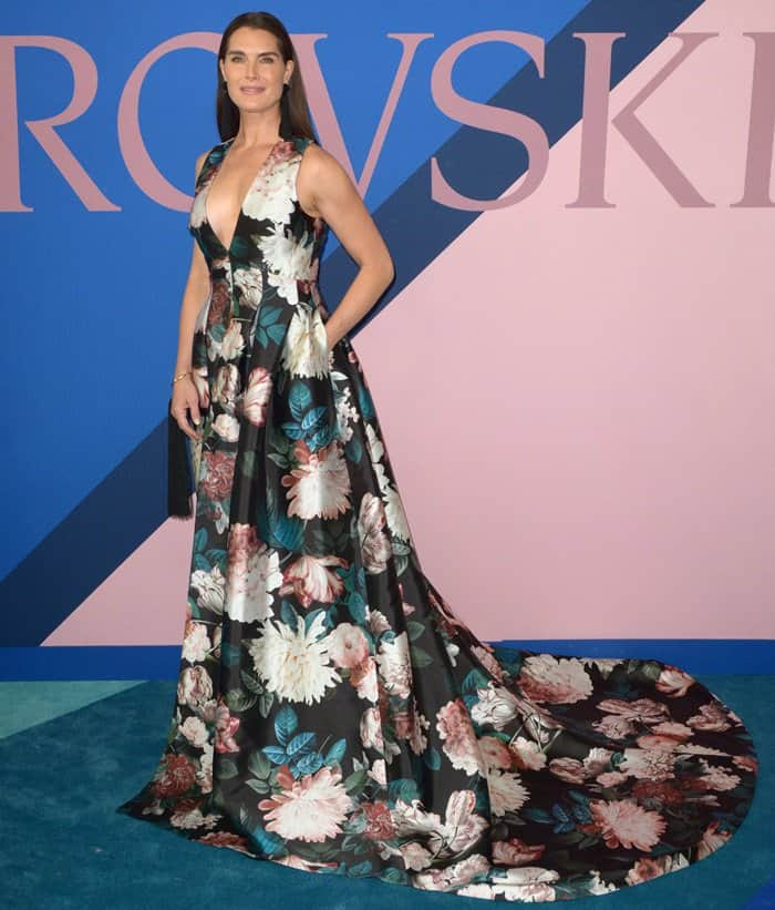 Brooke Shields At Cfda Fashion Awards In Sachin Babi Gown