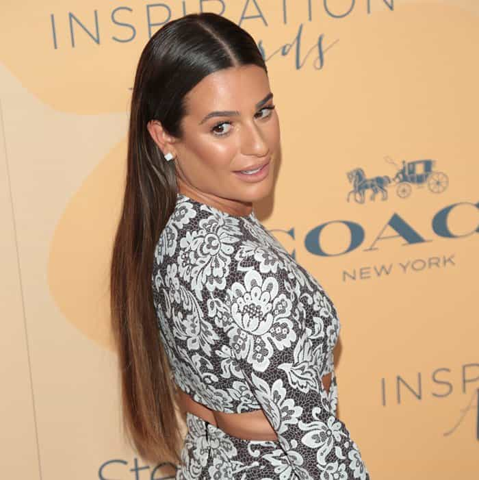 Lea Michele at the Step Up Women's Network 14th annual Inspiration Awards luncheon held at the Beverly Hilton Hotel on June 3, 2017