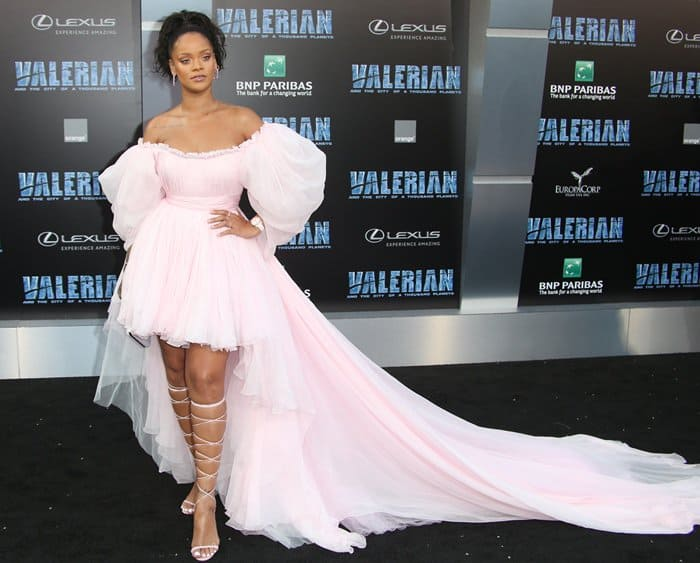 Rihanna at the world premiere of 'Valerian and the City of a Thousand Planets' at the TCL Chinese Theatre.