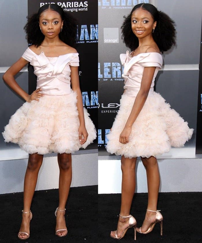 Skai Jacksonat the world premiere of 'Valerian and the City of a Thousand Planets' at the TCL Chinese Theatre.