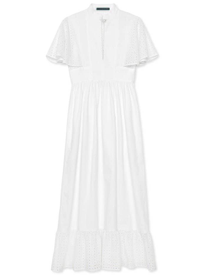 AlexaChung broderie anglaise cape dress